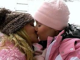 Lesbian fun in the snow -  Amber A - Clubseventeen com