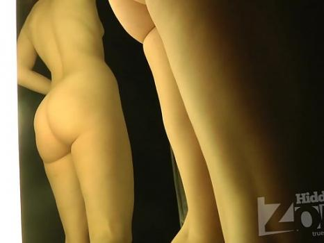 Sp2177# We admire the naked beauty in the fitting room. Her elastic buttocks and cute breasts will n