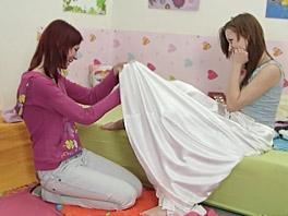 Anna and Kristin in a lesbian encounter