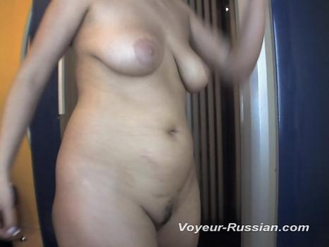 Pv492# Brunette with big tits is going to sunbathe. The girl undresses in front of a mirror. Our hid