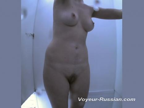 Pv473# Young girl disguises swimsuit and taking a shower. Excellent close-up shots. An elastic body