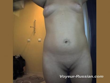 Pv467# Full brunette with a tattoo on the navel undressed and anoint themselves with a cream. Anothe