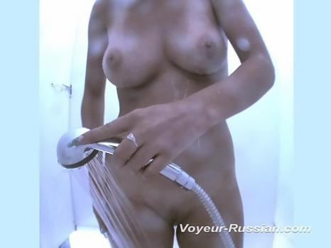 Pv464# Girl with smart forms completely undressed and take a shower. Another great model for filming