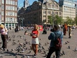 Dika shows off her tits in Amsterdam