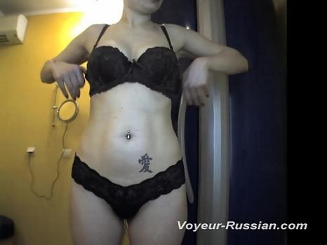 Pv435# Blonde with big tits undressed and smeared with cream. Our hidden camera filmed close-up of h