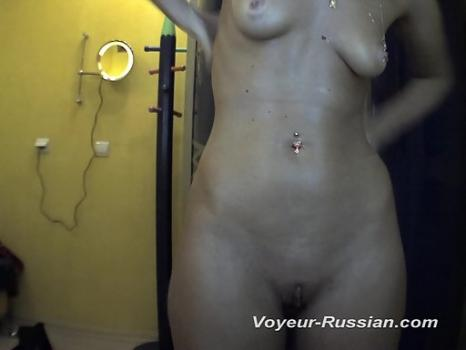 Pv426# Tanned babe took off clothes and smeared with cream. Our operator is behind the mirror and fi