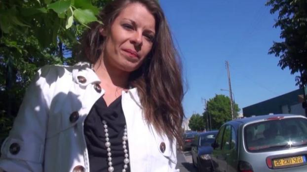 Sexy brunette catched up in the street hard anal pounded and facialized