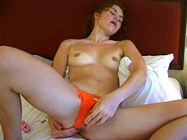 Teen Yvette goes for a swim and masturbates
